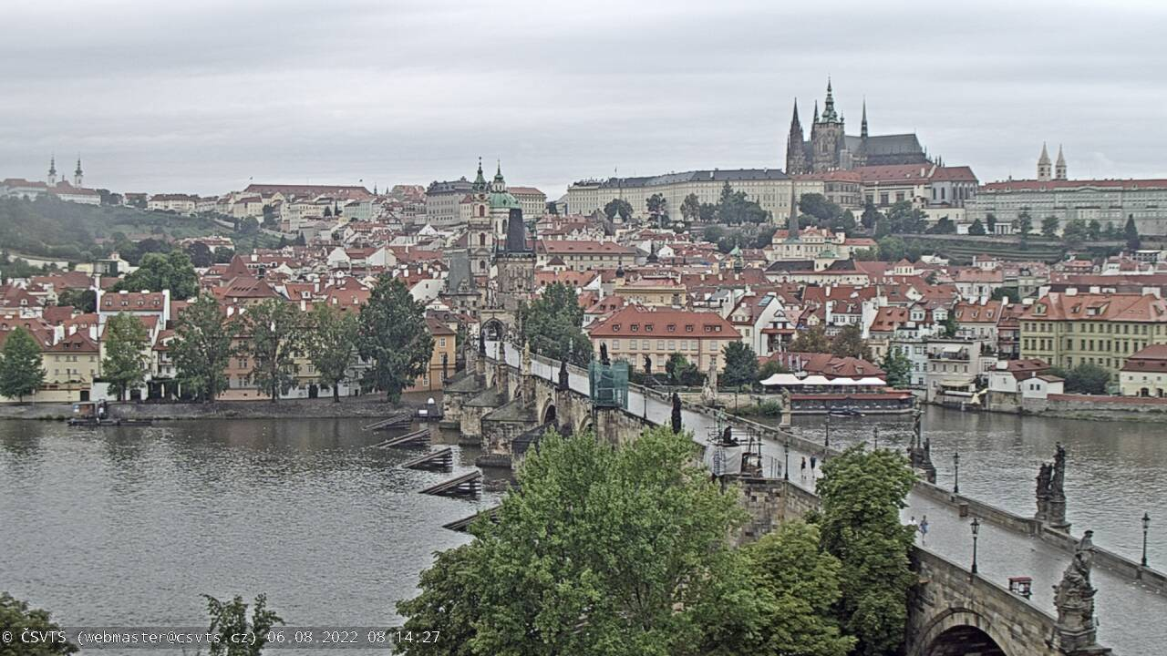 webcam Charles Bridge and Prague Castle