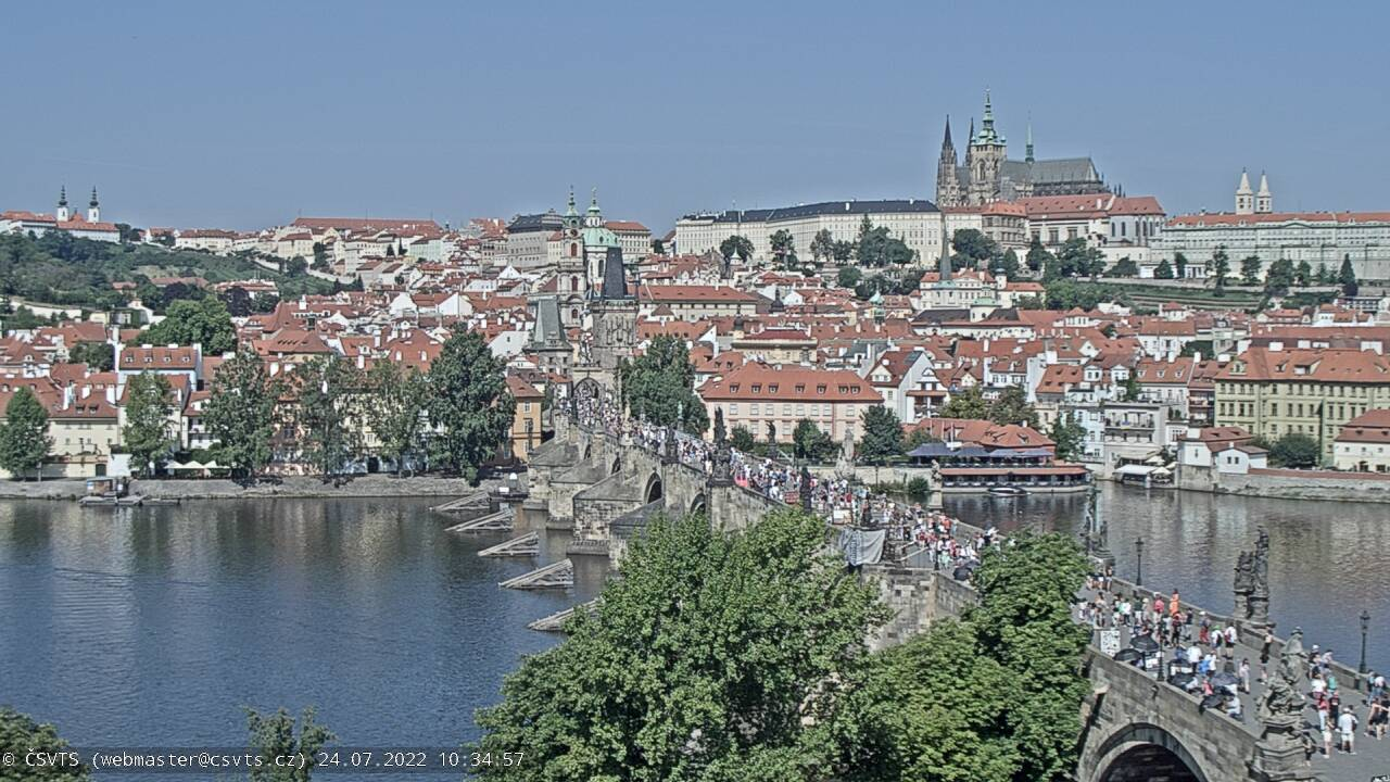 Charles Bridge & Prague Castle webcam