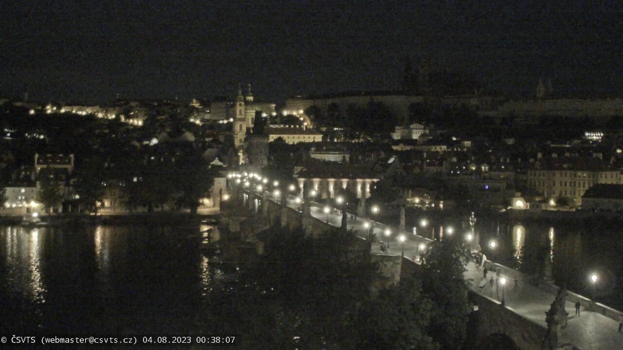 Webkamera Karlův most a Pražský hrad